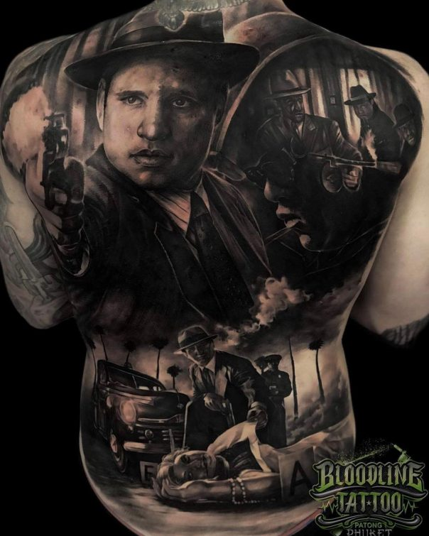 Storytelling Realistic Tattoo Designs For Back